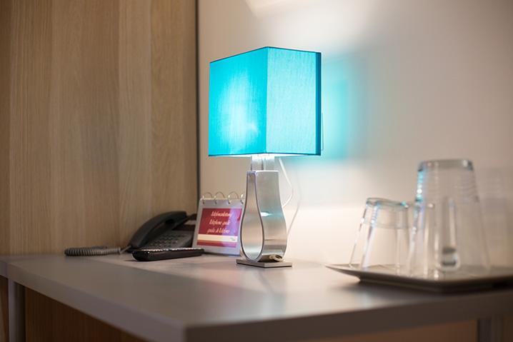 Dekoration im Hotel Zlami-Holzer in der Farbe Blau